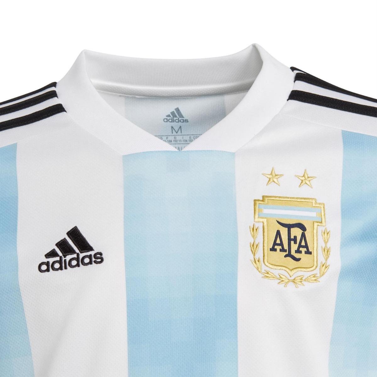 952af8e48 camiseta adidas seleccion argentina oficial 2018 niño. Cargando zoom.