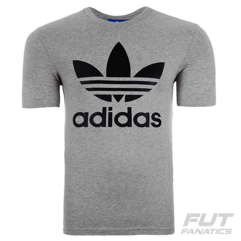 f16eeb7b48e camiseta adidas trefoil originals cinza - futfanatics. Carregando zoom.