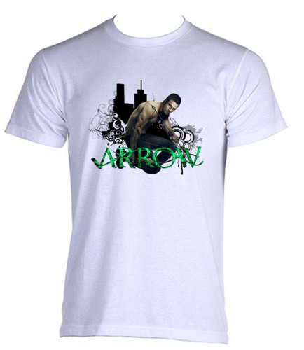 camiseta adulto arqueiro verde arrow serie oliver queen 05