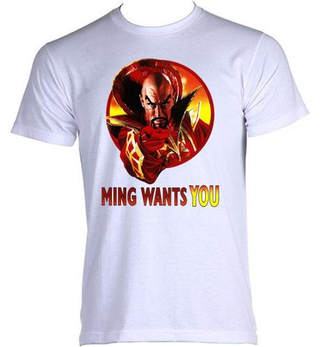 camiseta adulto flash gordon emperador dr ming 03