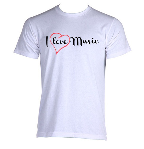 camiseta adulto i love music eu amo música musico musical 02