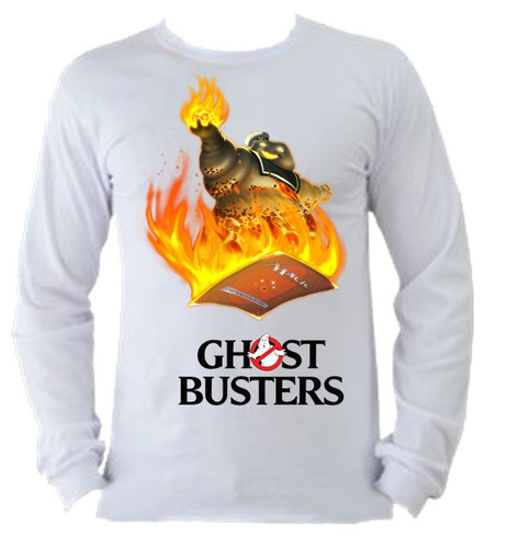 camiseta adulto manga longa caça fantasmas ghostbusters 11