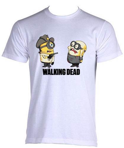 camiseta adulto walking dead minions 06
