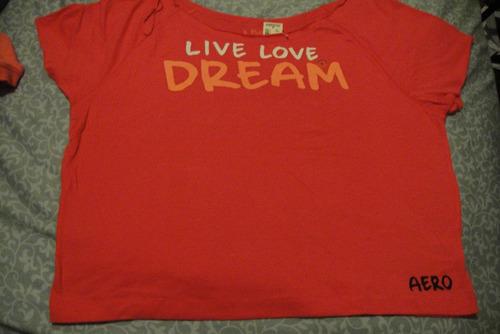 camiseta aeropostale de mujer fucsia large( 265 )