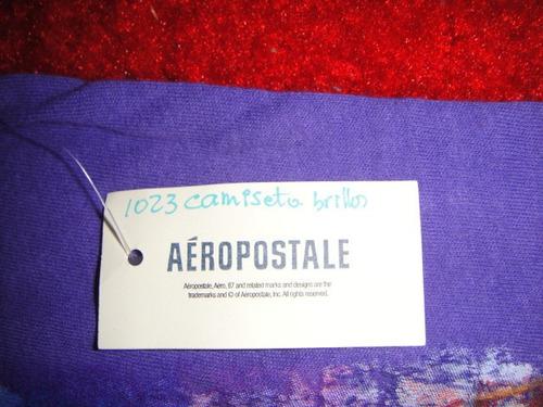 camiseta aeropostale lila brillos small ( 1023 )