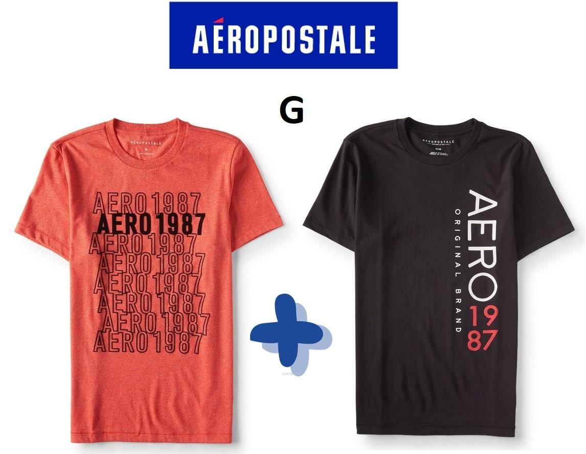 84d937001 camiseta aeropostale masculina original - kit 2 unid tam g. Carregando zoom.