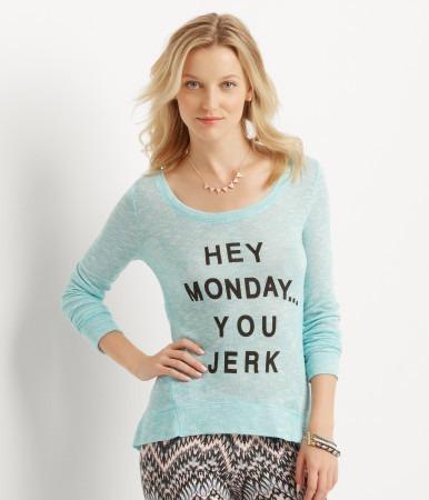 camiseta aeropostale mujer tejido fino turquesa xl ( 635 )