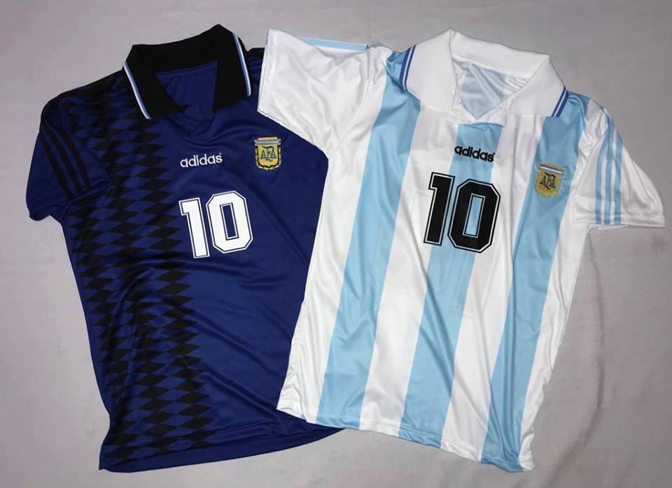 8b1129ce1e Camiseta afa retro argentina maradona caniggia ortega cargando zoom jpg  960x698 Argentina 94 camiseta azul