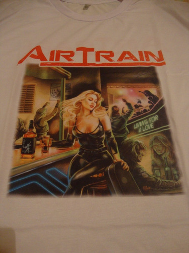 camiseta airtrain branca - rock hard rock - pronta entrega