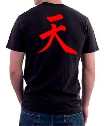 camiseta akuma - gouki - street fighter games - 100% algodão