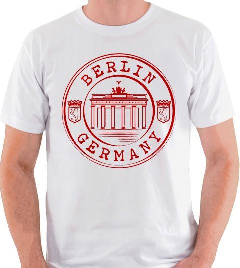 8241b38167 Camiseta Alemanha Berlim Berlin Germany Camisa Blusa Cinza - R  35 ...