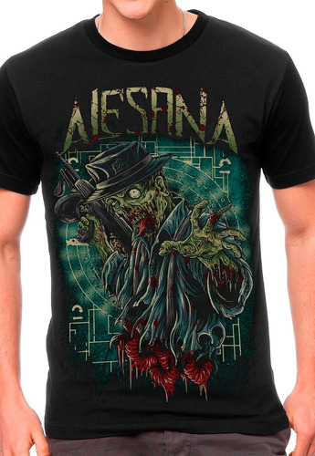 camiseta alesana zumbi blusas moletom regata bandas rock