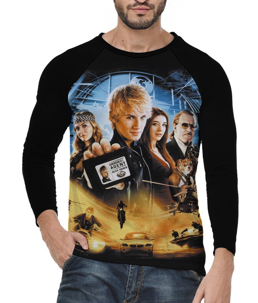 4678fa1ae Camiseta Alex Rider Filme Camisa Blusa Raglan Masculina - R$ 85,00 ...