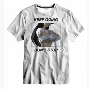 4937b6e74c Camiseta Algodão Keep Going Don t Stop Anime Retro Vintage