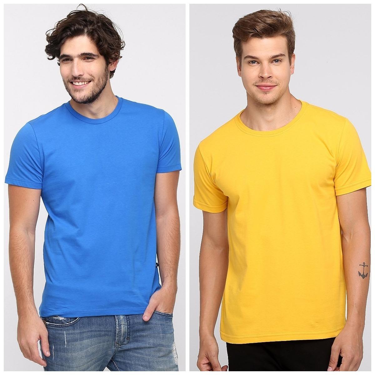 camiseta algodão penteado básica camisa casual lisa atacado. Carregando  zoom. 7bb0a827066
