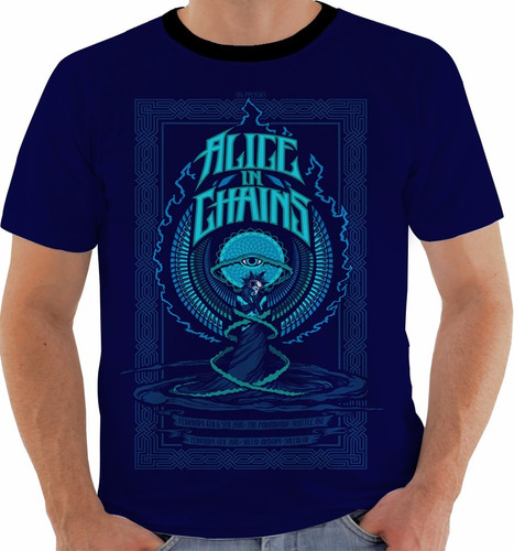 camiseta alice in chains - concert poster - live seattle