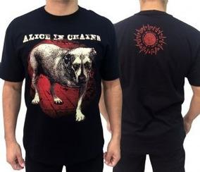 8e89048d0b Camiseta Alice In Chains - Camisetas Masculinas Curta com o Melhores Preços  no Mercado Livre Brasil