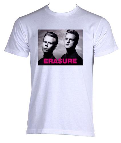 camiseta allsgeek adulto banda erasure anos 80 rock - 01