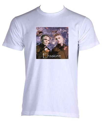 camiseta allsgeek adulto banda erasure anos 80 rock - 02