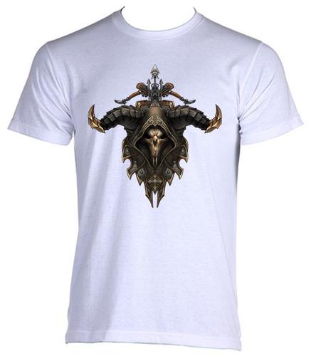 camiseta allsgeek adulto diablo 3 08 - do p ao gg