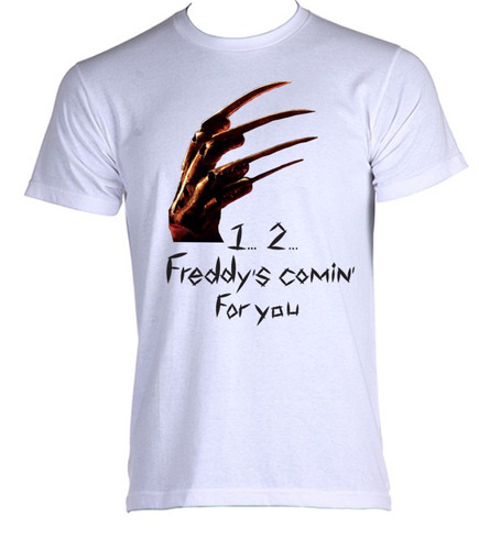 camiseta allsgeek adulto freddy krueger terror trash 002