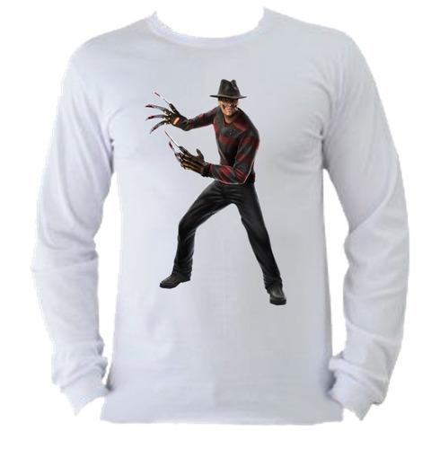 camiseta allsgeek adulto manga longa freddy krueger 001