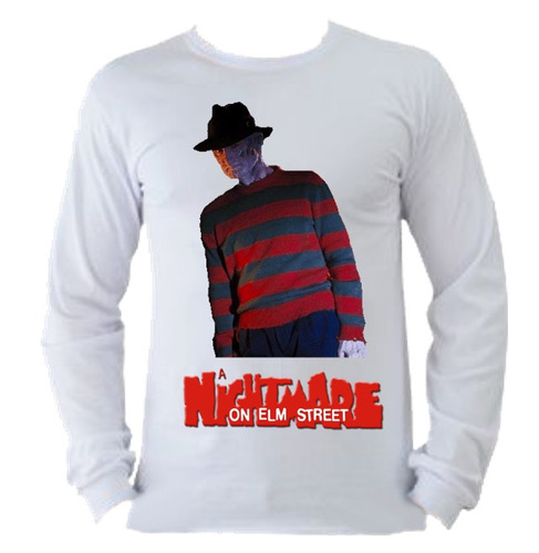 camiseta allsgeek adulto manga longa freddy krueger 009