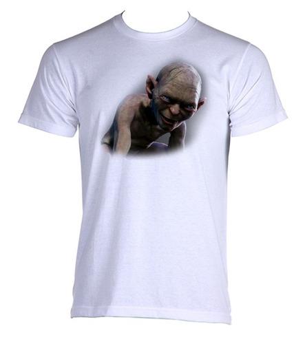 camiseta allsgeek adulto senhor dos anéis lotr golum 001