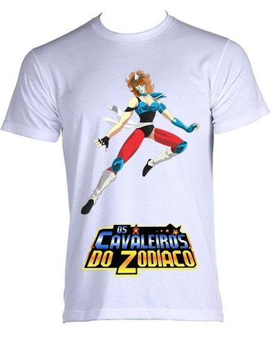 camiseta allsgeek cavaleiro do zodíaco cdz - d - do p ao gg