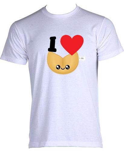 camiseta allsgeek comida engraçada i love 005 - p ao gg