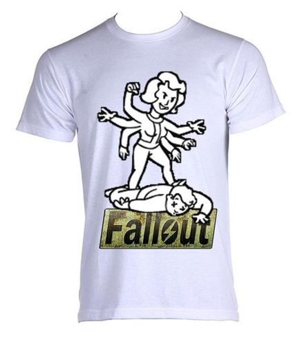camiseta allsgeek fallout 3 - perk blackwidow - do p ao gg