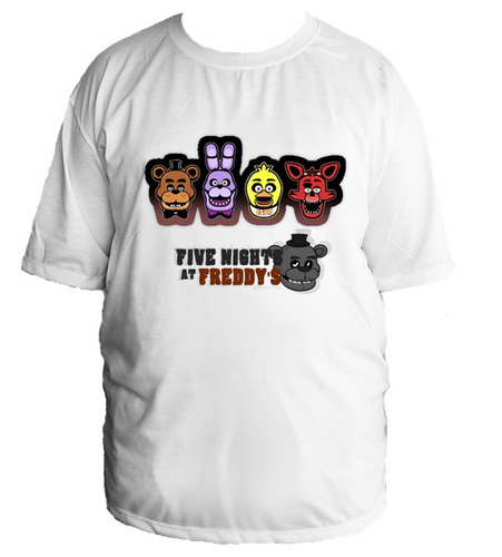 camiseta allsgeek five night at freddy's tamanho especial 02