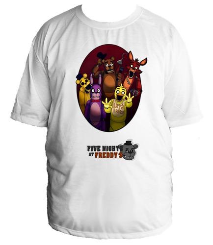 camiseta allsgeek five night at freddy's tamanho especial 23
