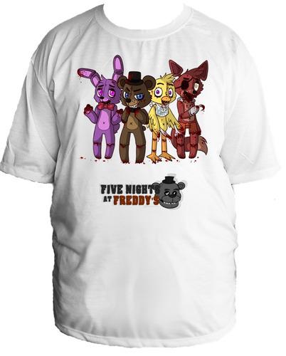 camiseta allsgeek five night at freddy's tamanho especial 32