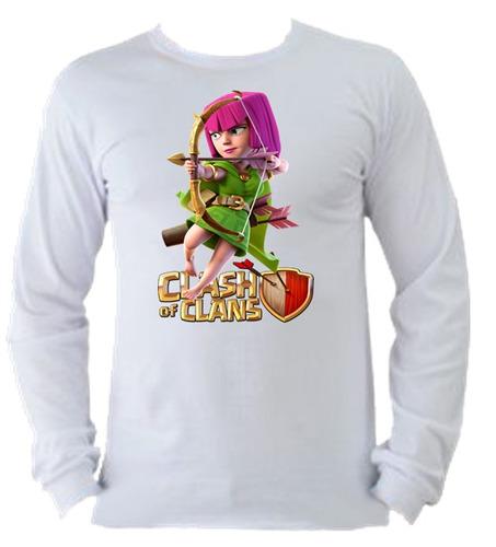 camiseta allsgeek manga longa clash of clans 02