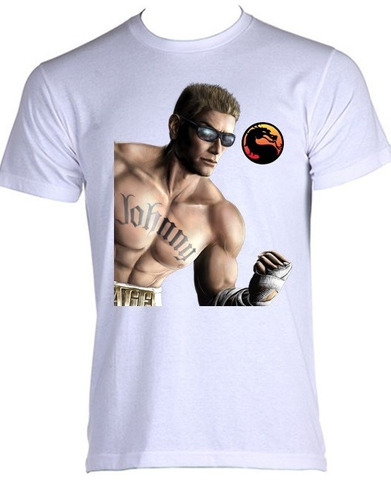 camiseta allsgeek  mortal kombat - johnny cage - do p ao gg
