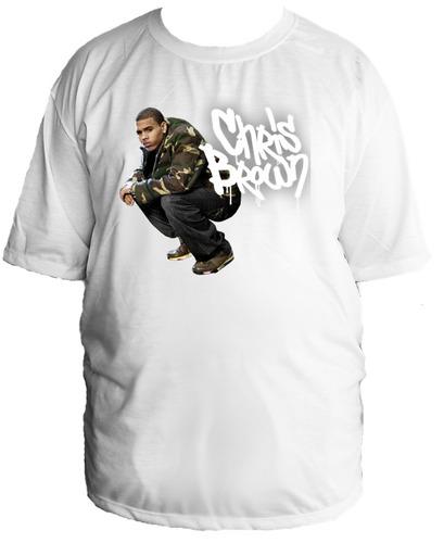 camiseta allsgeek  tamanho especial chris brown hip hop 02