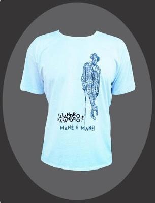 camiseta alternativa camiseta wyclef jean/bezerra da silva
