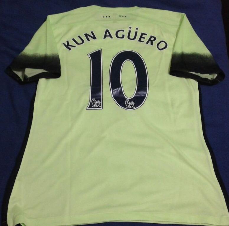 Camiseta Alternativa Manchester City  10 Kun Agüero -   849 eac9f2a90b6