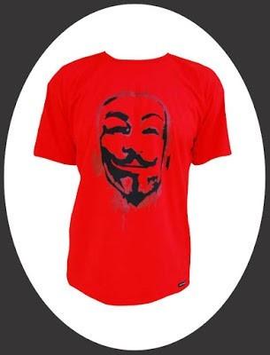 camiseta alternativa v de vingança