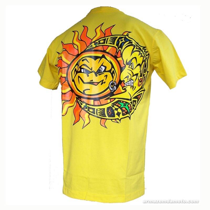 3488d32b4 Camiseta Amarela G Valentino Rossi Moto Gp 46 Nova Sol Lua - R  79 ...