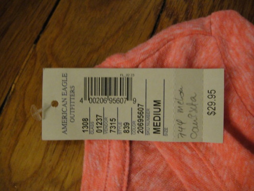 camiseta american eagle color melon medium ( 744 )
