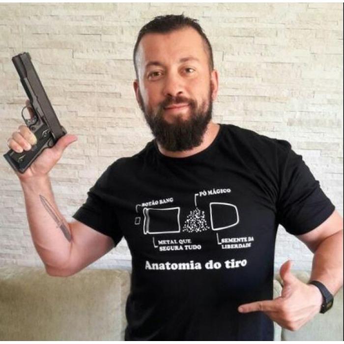 Camiseta Anatomia Do Tiro - R$ 70,00 em Mercado Livre
