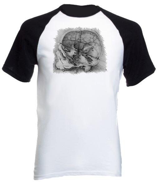 Camiseta Anatomia Leonardo Da Vinci Artes Raglan 07 - R$ 53,07 em ...