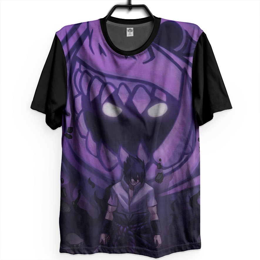 fe73ebb15 camiseta anime naruto shippuden sasuke susanoo sharingan. Carregando zoom.