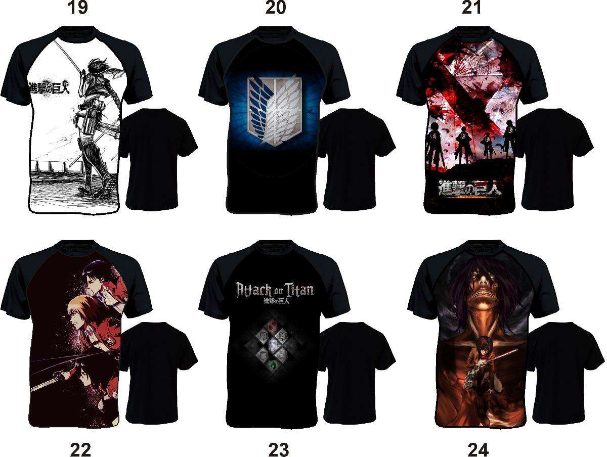 904af0649 Camiseta Anime Shingeki Mikasa Ackerman Attack On Titan - R  35