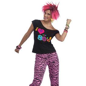 be9ee15a5 Camiseta Años 80, Accesorio De Disfraz Para Mujer, Talla: