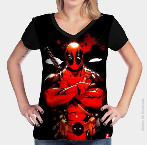 camiseta anti herói - deapool - cidade do herói