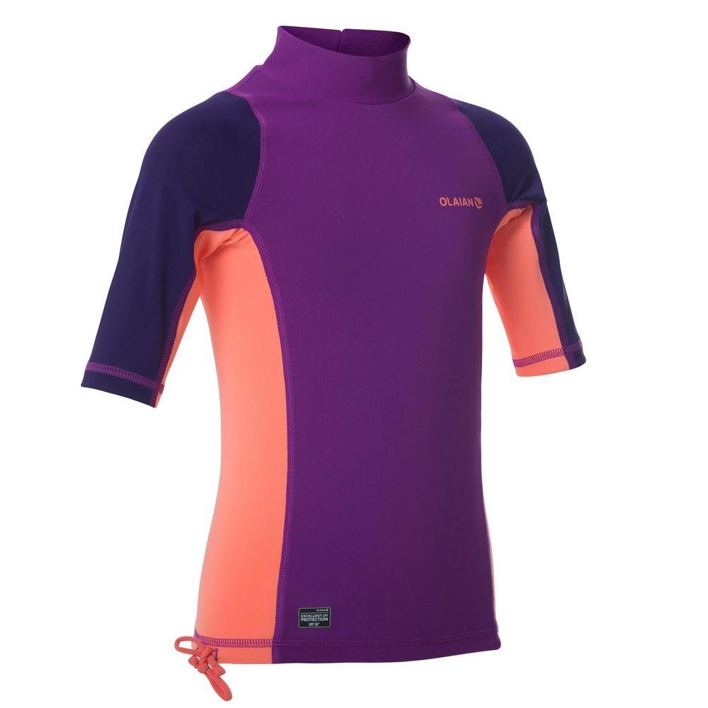 0a0ed2f49 camiseta anti-uv surf top 500 manga corta niños violeta. Cargando zoom.