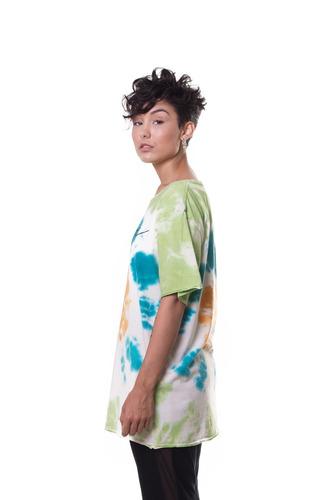 camiseta approve logo tie dye
